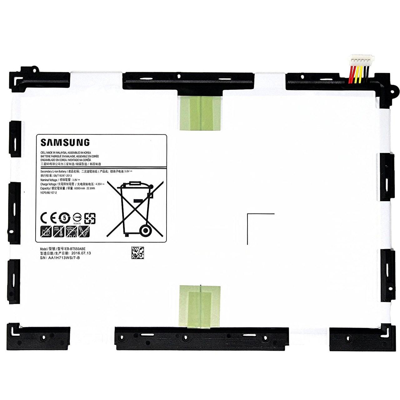 باتری تبلت مدل EB-BT550ABE با ظرفیت 6000 میلی آمپر مناسب برای تبلت Galaxy Tab A