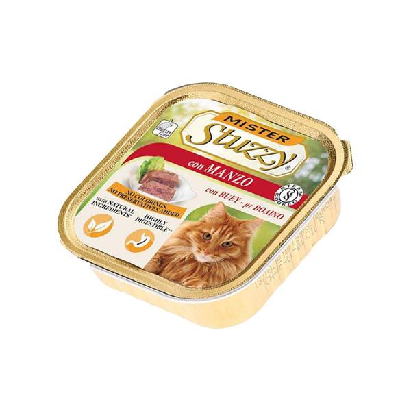 کنسرو غذای گربه استوزی مدل con manzo وزن 100 گرم
