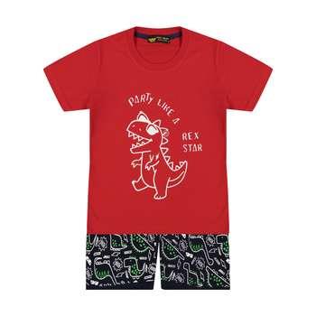 ست تی شرت و شلوارک بچگانه خرس کوچولو مدل 2011200-72