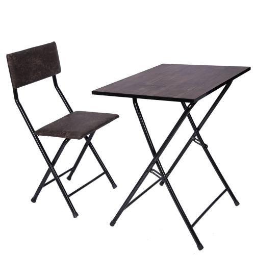 میز و صندلی تحریر تاشو و تنظیم شو یاس قهوه ای