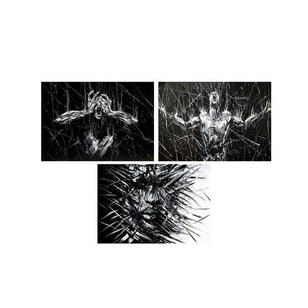 تابلو 3 تکه چاپ سی طرح مدرن شماره 1