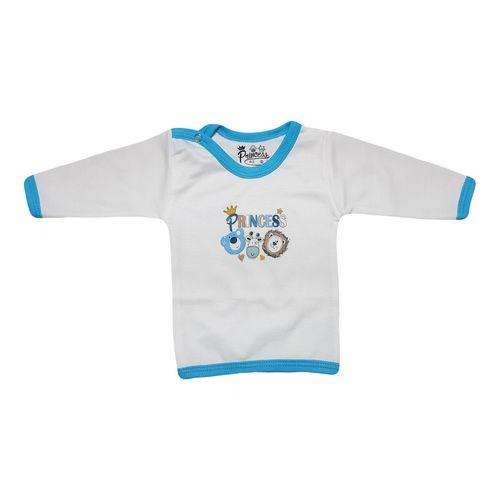 تی شرت آستین بلند نوزادی برند پرنسس مدل BLUE-01