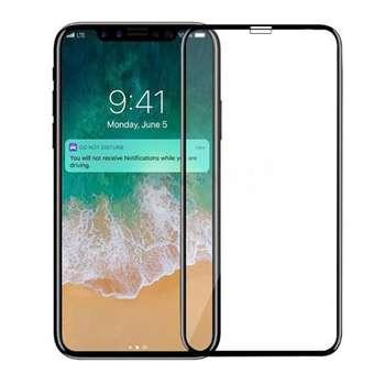 محافظ صفحه نمایش شیشه ای مدل Full Cover مناسب برای گوشی آیفون X / 10