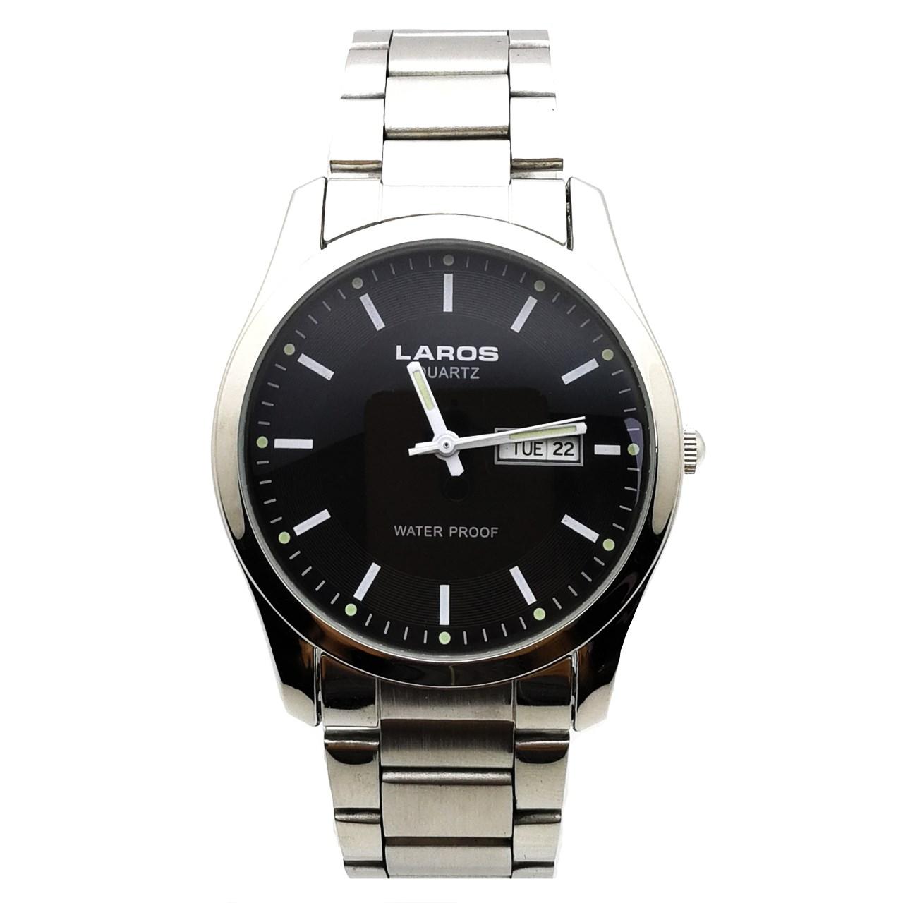 ساعت مچی عقربه ای مردانه لاروس مدل LM-A118-Black