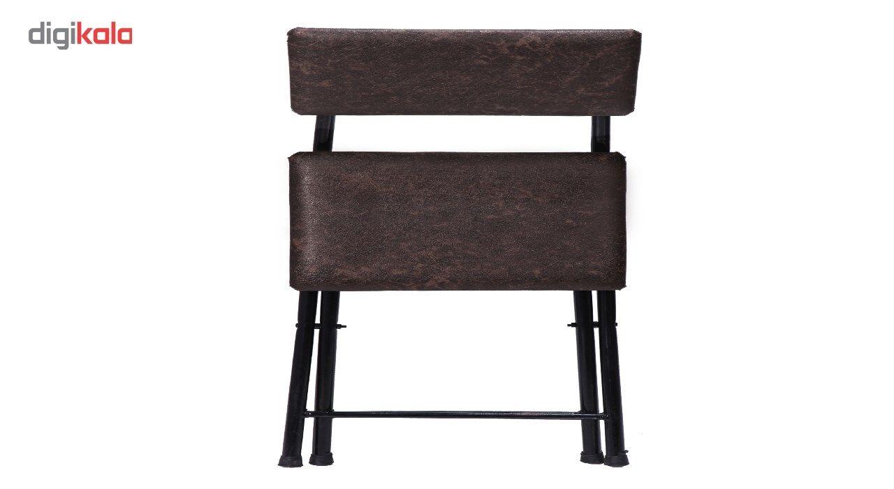 میز و صندلی تحریر تاشو و تنظیم شو سپهر یاس قهوه ای main 1 2