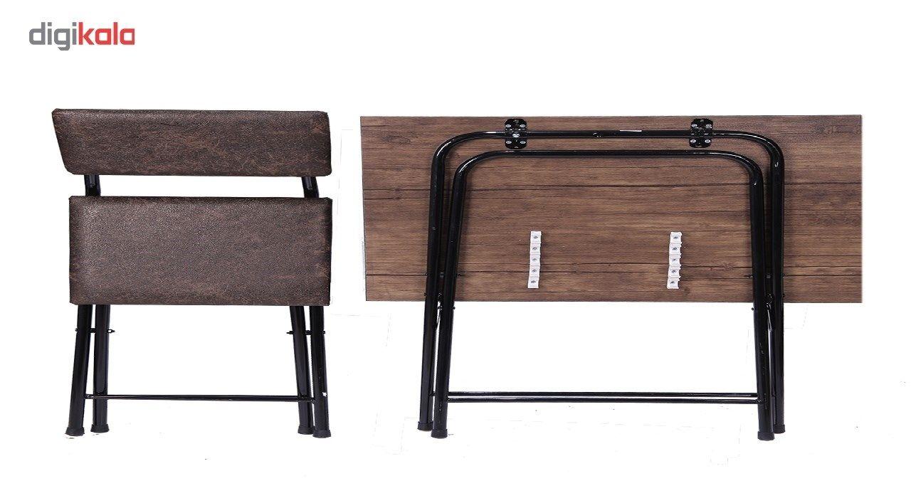 میز و صندلی تحریر تاشو و تنظیم شو سپهر یاس قهوه ای main 1 3