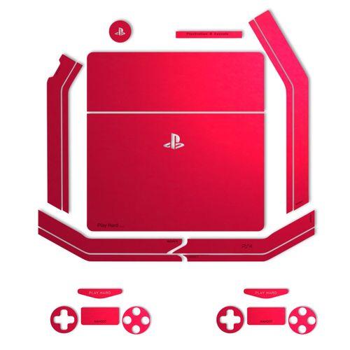 برچسب ماهوت مدل Red-Color Special مناسب برای کنسول بازی PS4 Slim