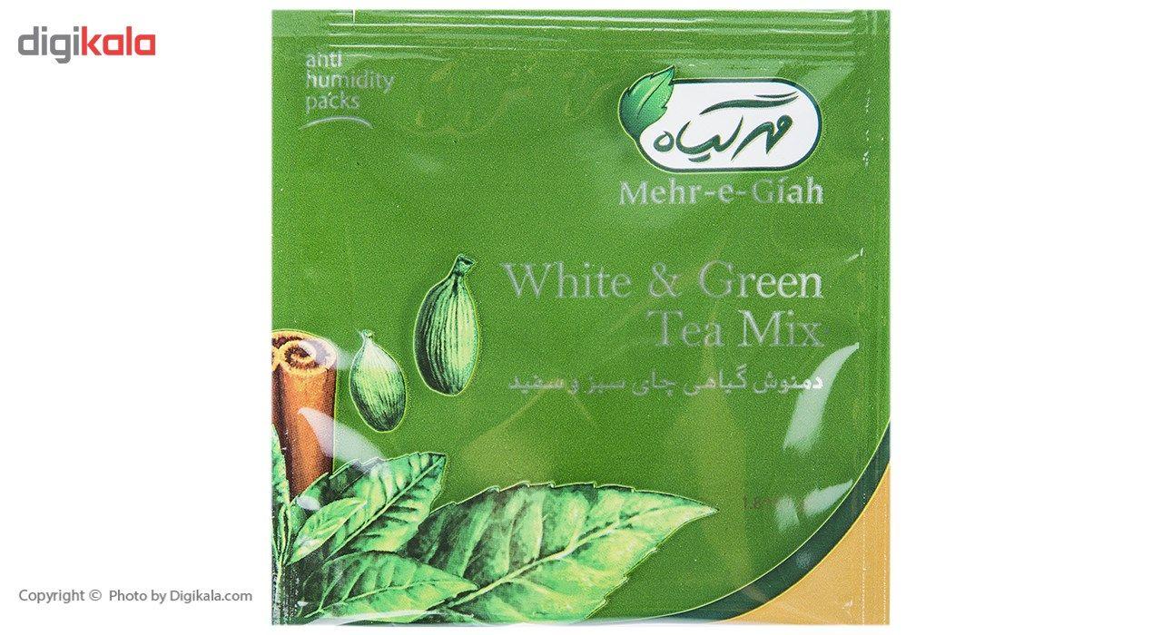 دمنوش گیاهی چای سبز و سفید مهرگیاه بسته 14 عددی main 1 4