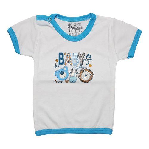 تی شرت آستین کوتاه نوزادی برند پرنسس مدل BLUE-02