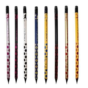 مداد مشکی یالانگ طرح توپ بسته 8 عددی