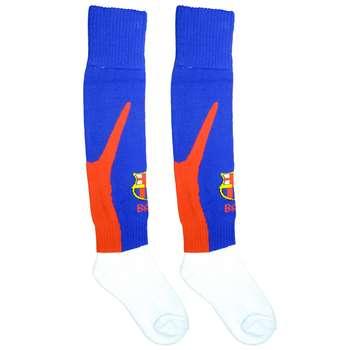 جوراب ورزشی بچه گانه طرح بارسلونا کد 2078