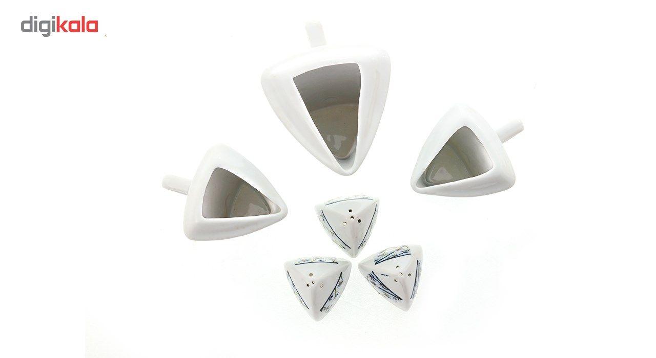 ست نمکپاش و سس خوری بهشت طرح سه گوش مدل آبتین main 1 1