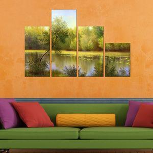 تابلو دیواری 4 تکه آفتاب کد TA804