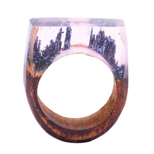 انگشتر باربد طرح چوبی برفی کد S22