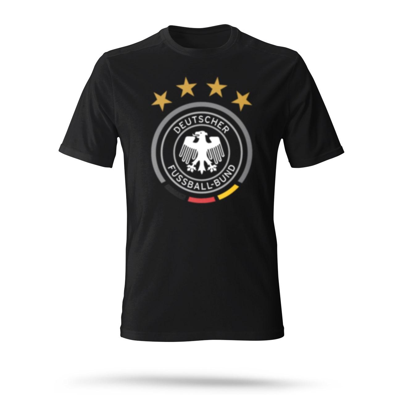 تی شرت مردانه طرح چهار ستاره رنگ مشکی