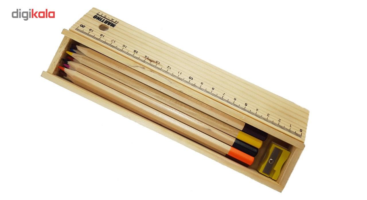 مداد رنگی 12 رنگ مارتینو مدل MA-512 main 1 3