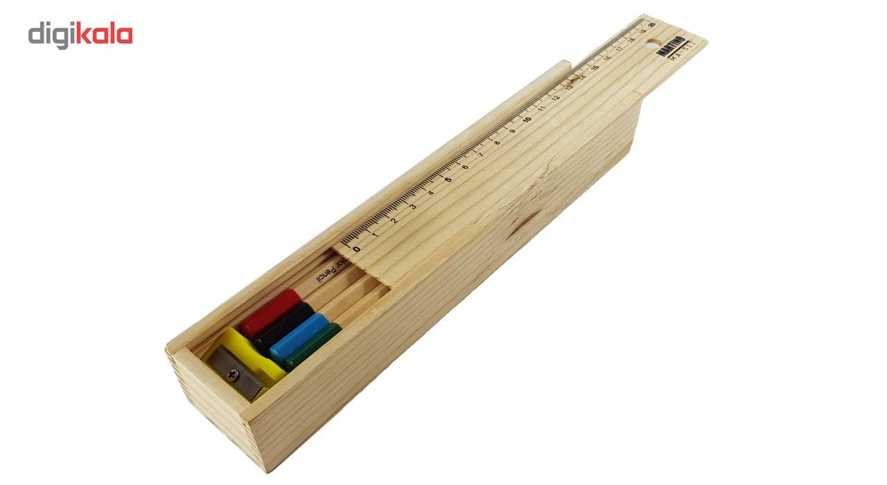 مداد رنگی 12 رنگ مارتینو مدل MA-512 main 1 4