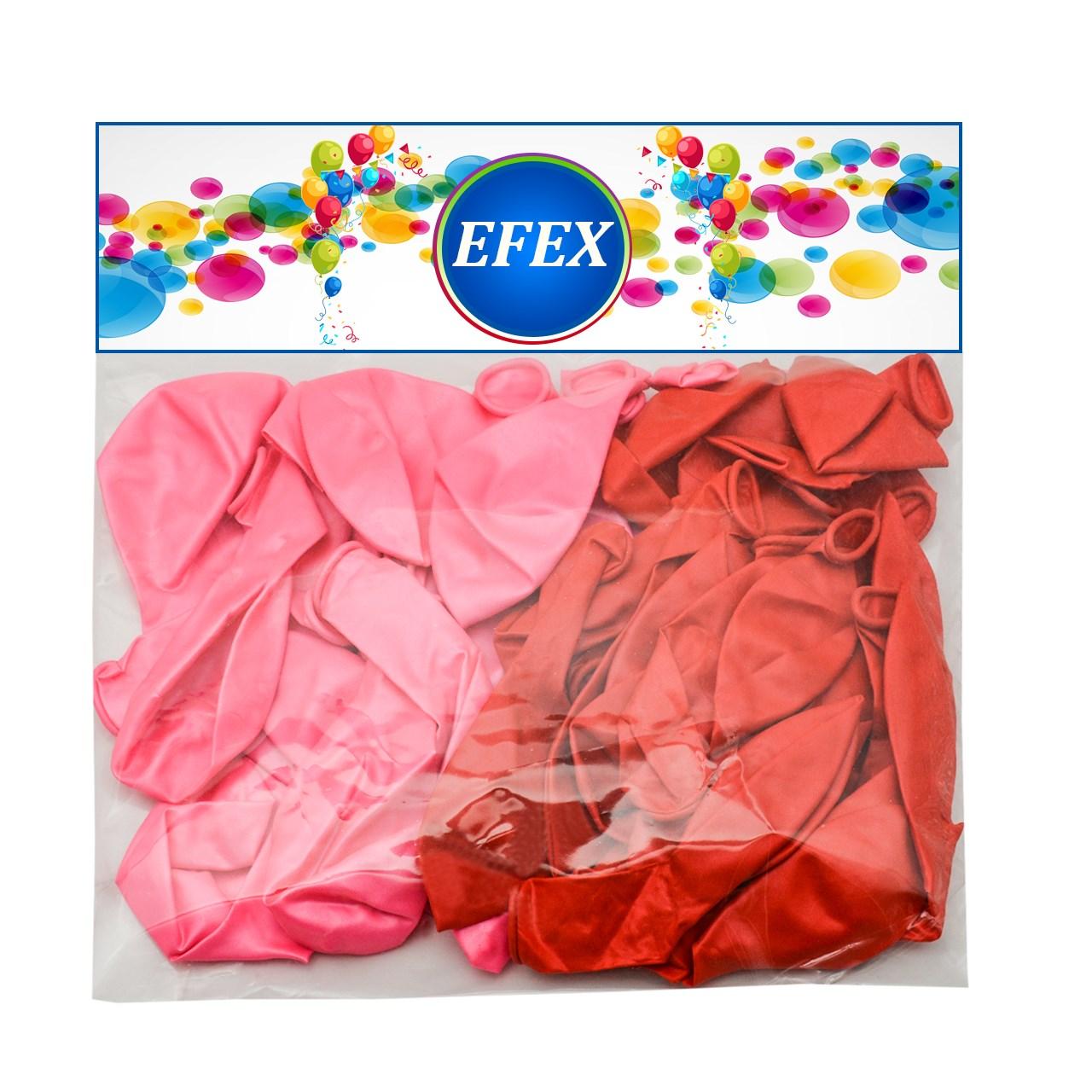 عکس بادکنک متالایز طرح EFEX بسته 40 عددی