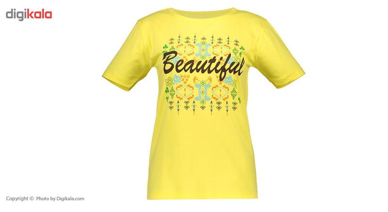 ست تی شرت و شلوار زنانه ناوالس  کدSET05YL