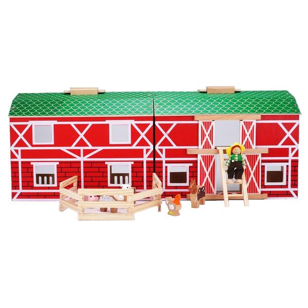 اسباب بازی چوبی  پلیتیو جونیور مدل مزرعه