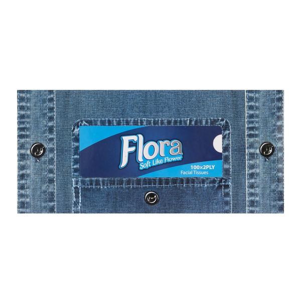 دستمال کاغذی فلورا طرح جین بسته 100 برگ