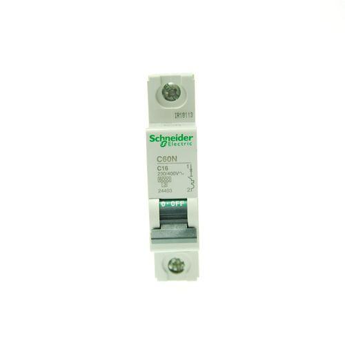 بسته 12 عددی فیوز مینیاتوری تک پل 16 آمپر اشنایدر الکتریک سری  C60N مدل24403