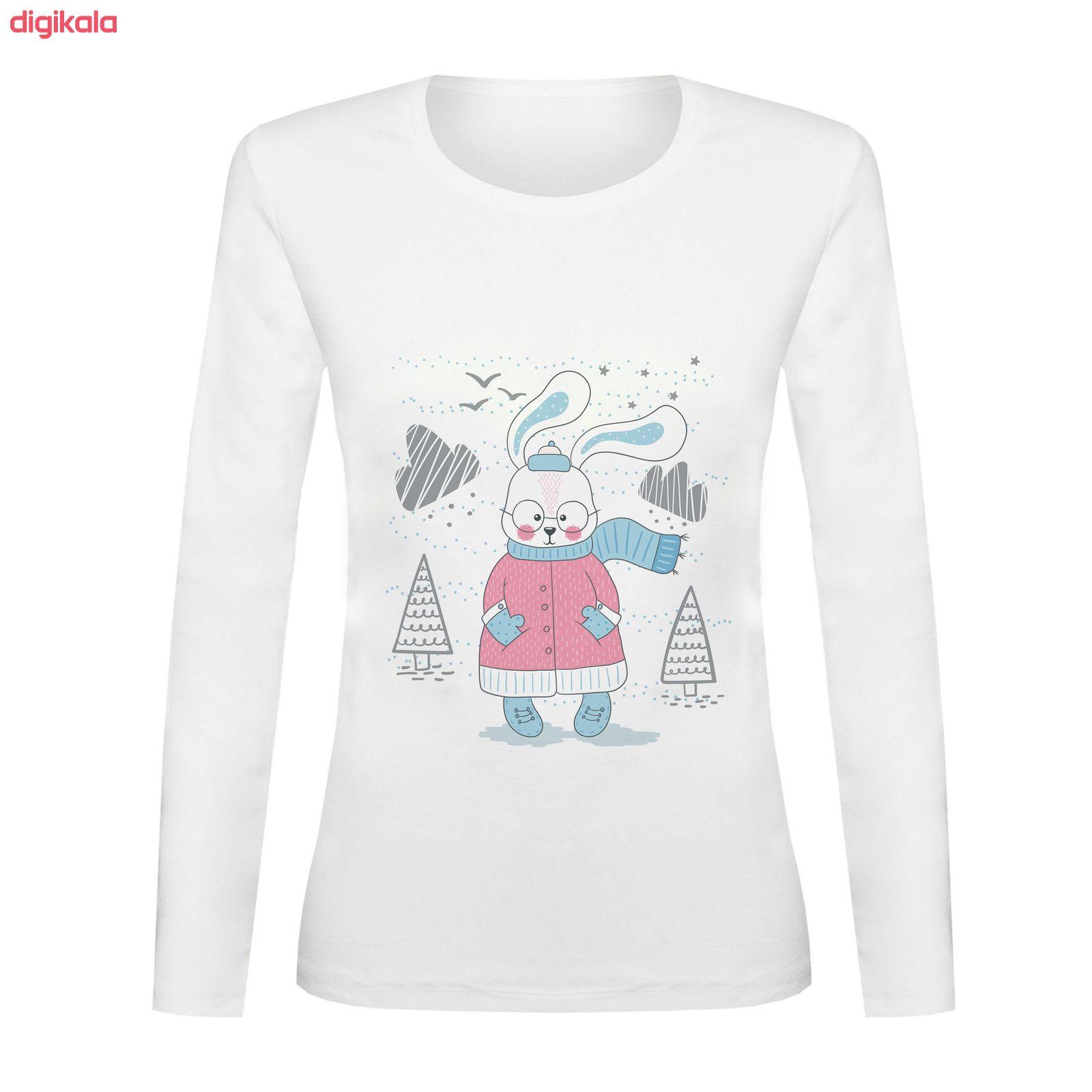 تی شرت آستین بلند زنانه کد TAB01-307
