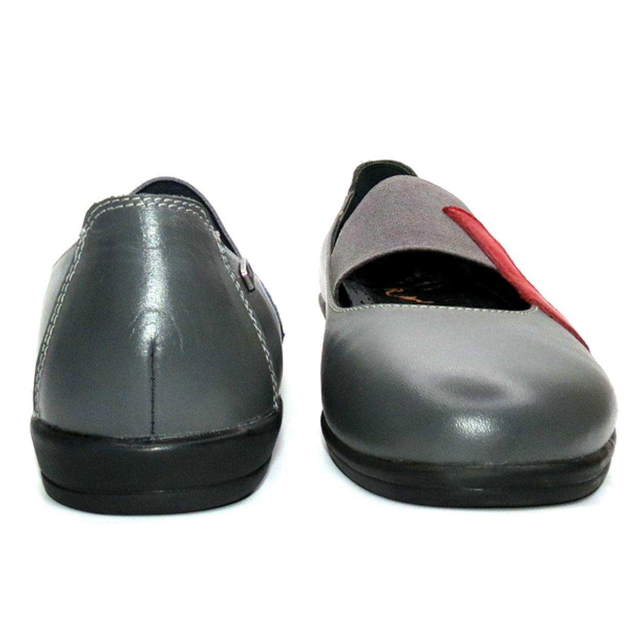 کفش روزمره زنانه آر اند دبلیو مدل 982 رنگ طوسی -  - 5