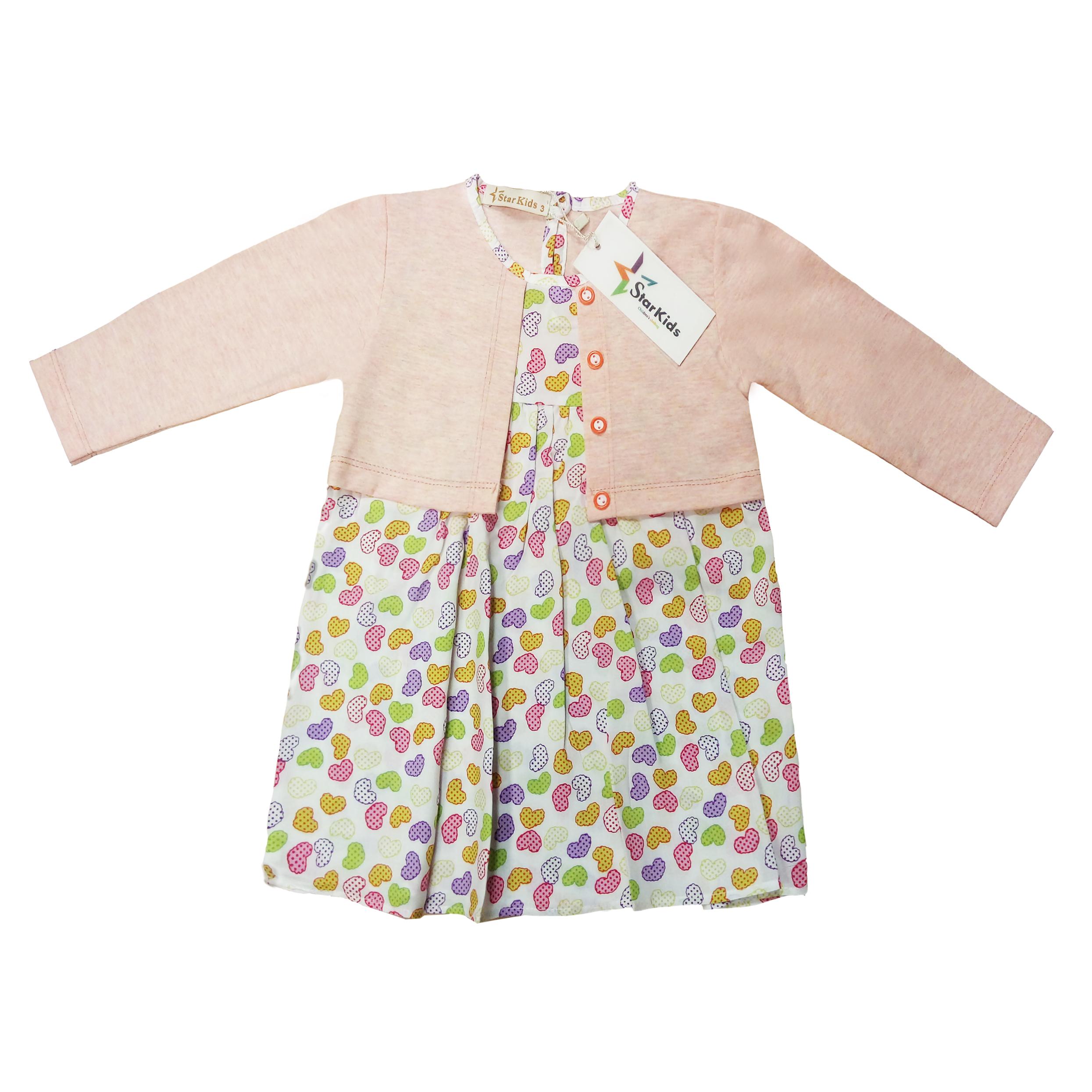 پیراهن دخترانه استارکیدز   کد 001101