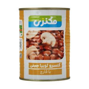 کنسرو لوبیا چیتی با قارچ مکنزی - 380 گرم