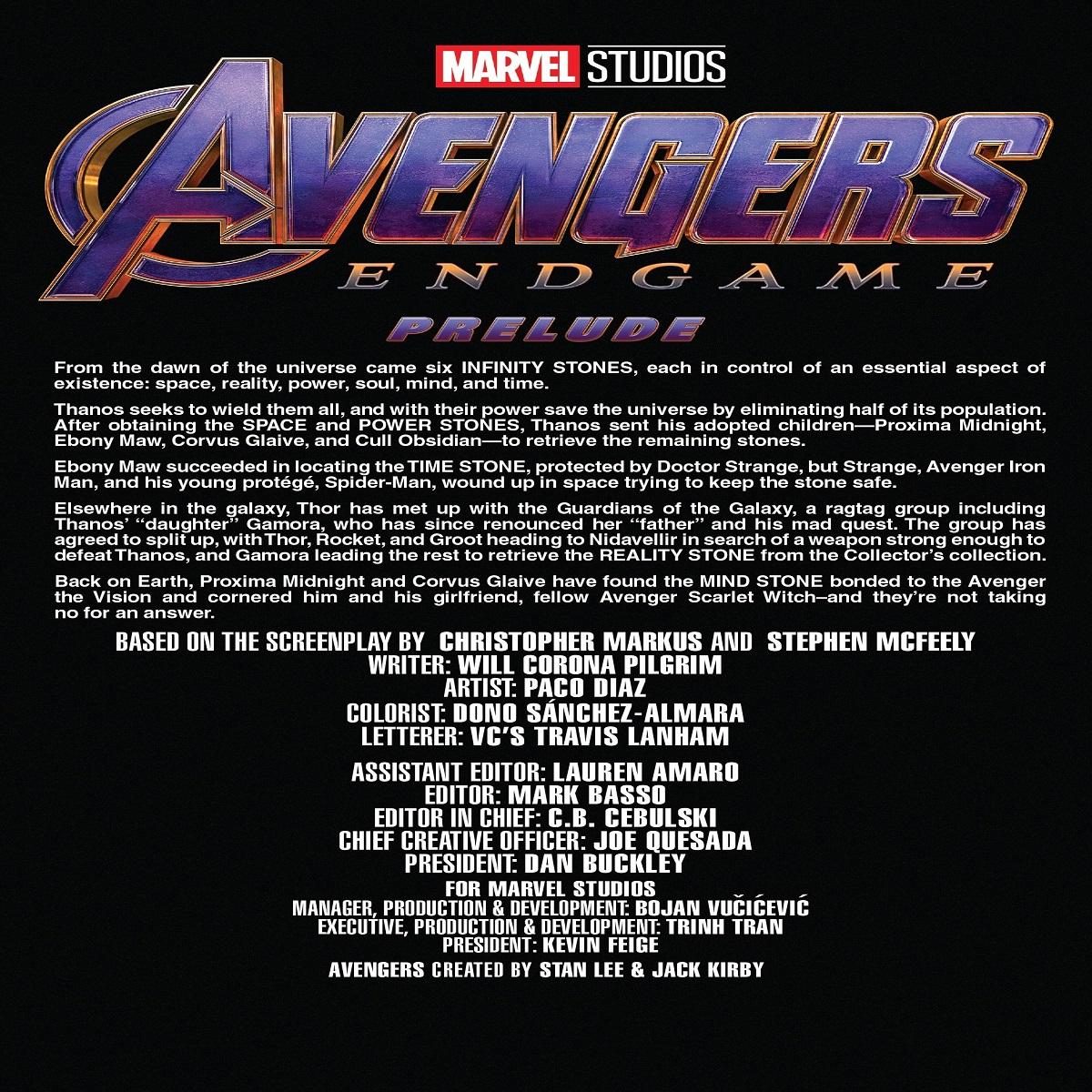 مجله Marvels Avengers Endgame Prelude 2 ژانویه 2019