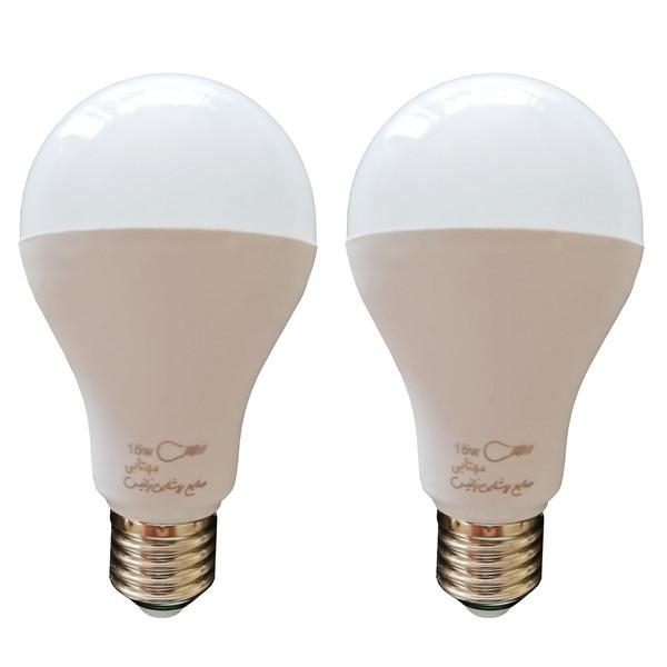 لامپ ال ای دی 15 وات زانیس مدل Z-015 پایه E27 بسته 2 عددی