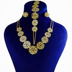 نیم ست طلا 18 عیار زنانه کانیار گالری کد NA19