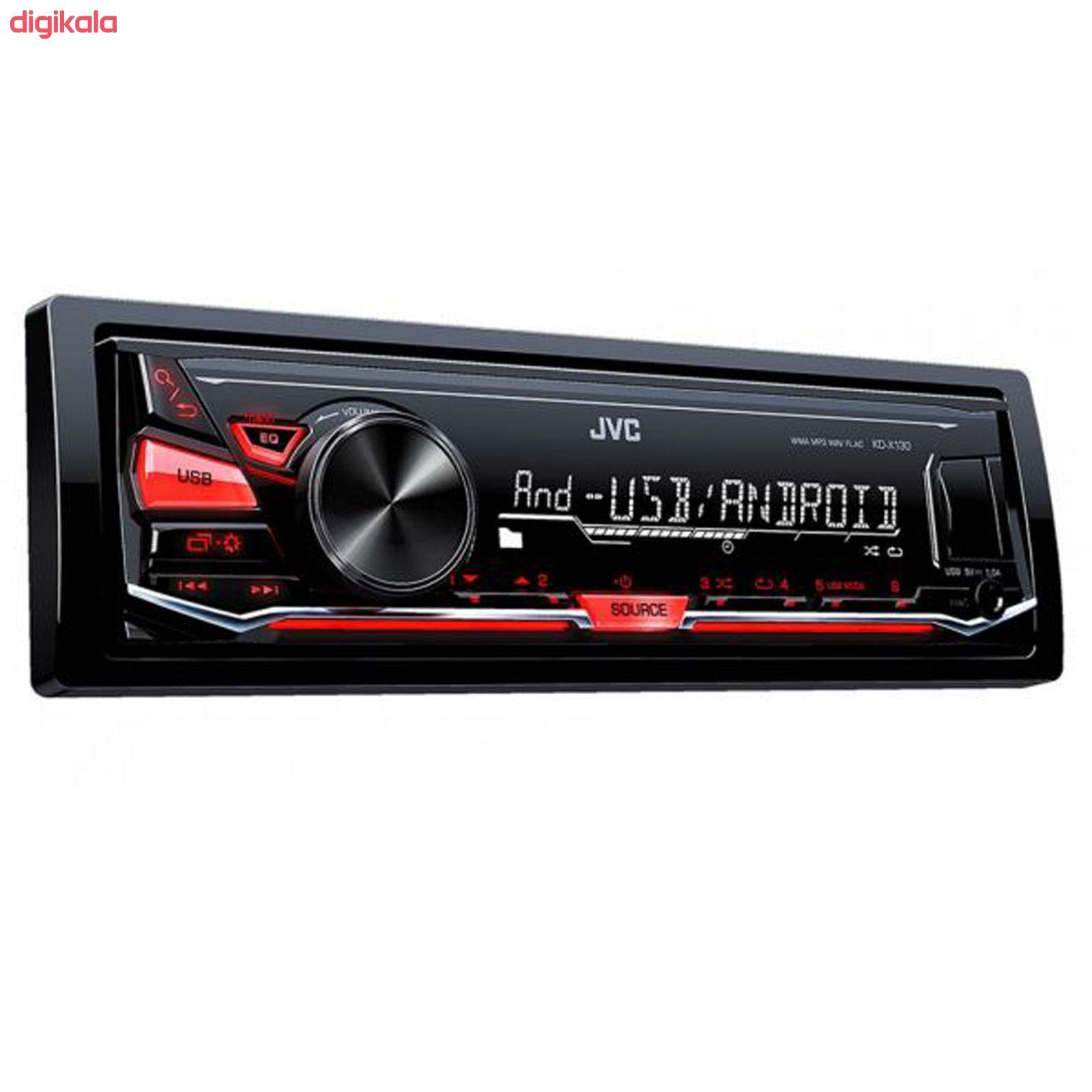 پخش کننده خودرو جی وی سی مدل KD-X130M