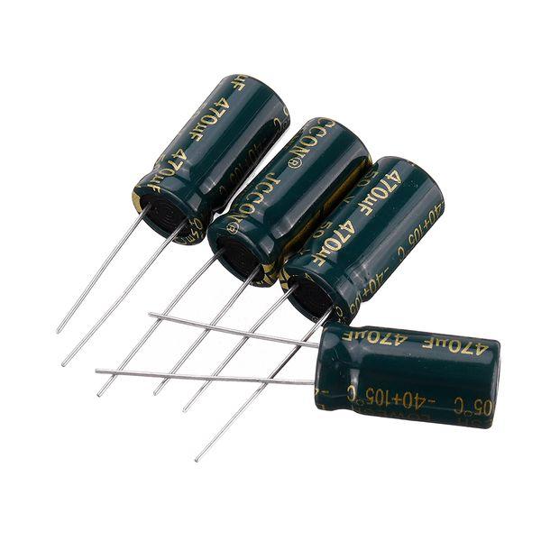 خازن الکترولیت 470 میکروفاراد کد 150 بسته 4 عددی