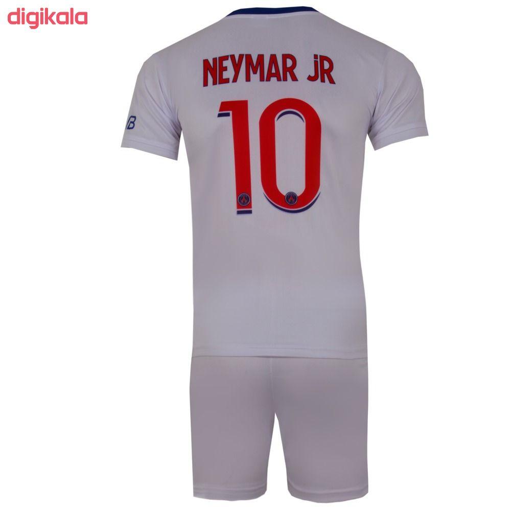 ست پیراهن و شورت ورزشی پسرانه طرح پاریسن ژرمن مدل نیمار 2021 رنگ سفید main 1 1