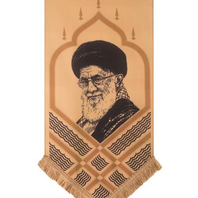 پرچم طرح تصویر مقام معظم رهبری سید علی خامنه ای (مدظله) کد ۰۰۲۰۱۳۱۵