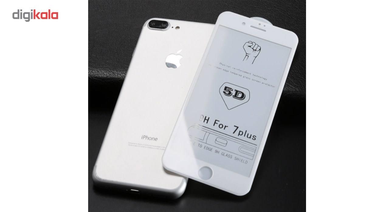 محافظ صفحه نمایش تمام چسب شیشه ای مدل 5D مناسب برای گوشی اپل آیفون 7 پلاس main 1 2