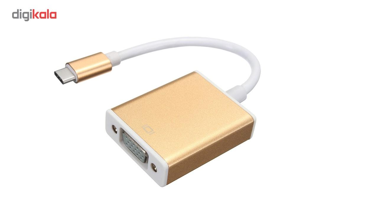 مبدل USB Type-C بهVGA ویپرو مدل wp-c002 main 1 1