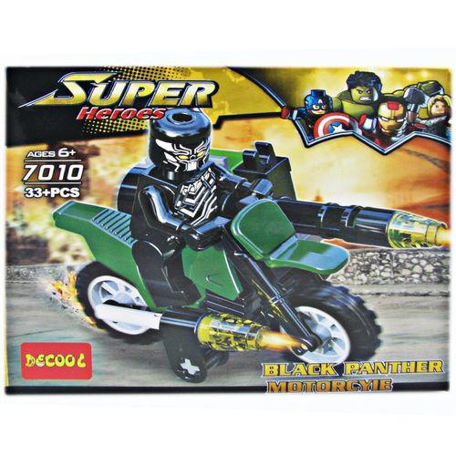ساختنی دکول مدل Super Heroes سری Black Panther Motorcycle 7010