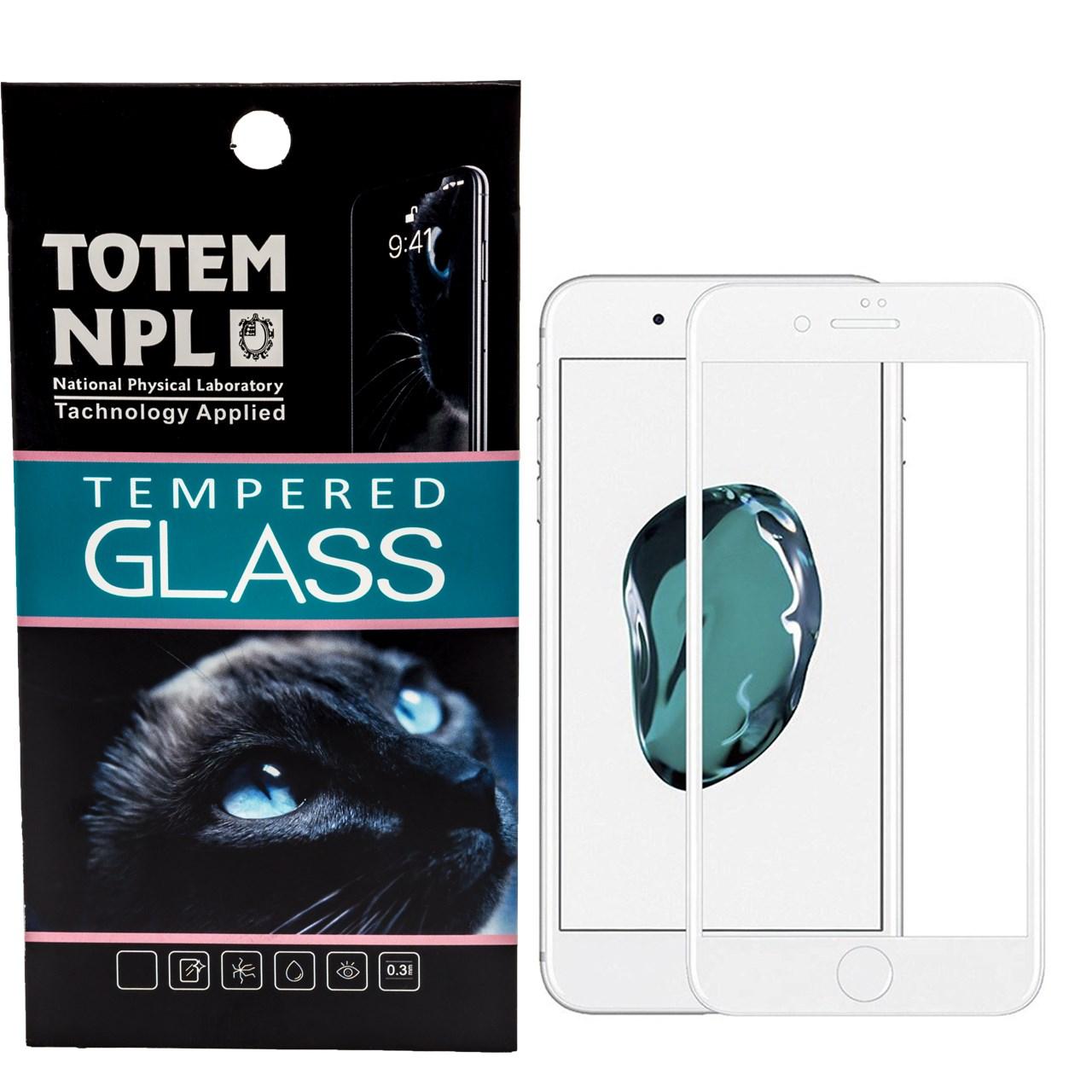محافظ صفحه نمایش تمام چسب شیشه ای مدل 5D مناسب برای گوشی اپل آیفون 8 پلاس