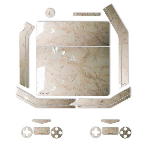 برچسب ماهوت مدل Almond-Marble Special   مناسب برای کنسول بازی PS4 Slim