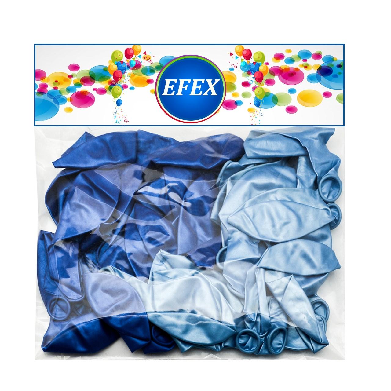 بادکنک متالایز طرح EFEX بسته 40 عددی