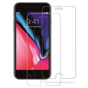 محافظ صفحه نمایش شیشه ای مدل Tempered مناسب برای گوشی آیفون 7 / 8  بسته 2 عددی به همراه کابل لایتنینگ