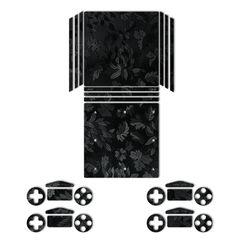 برچسب ماهوت مدلBlack Wild-flower Texture مناسب برای کنسول بازی PS4 Pro