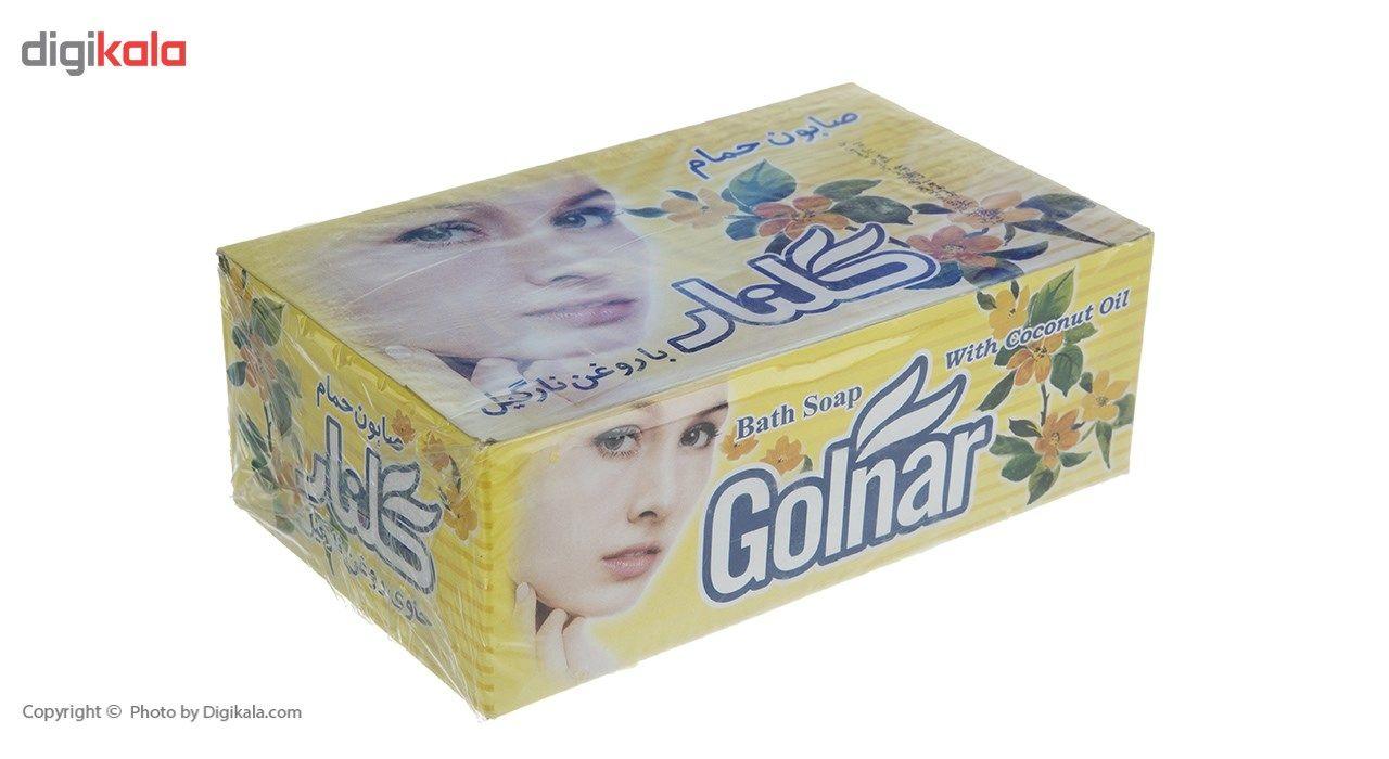 صابون گلنار مدل Coconut oil بسته 6 عددی main 1 2