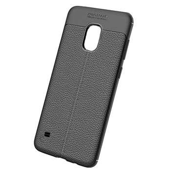 کاور ژله ای طرح چرم مناسب برای گوشی موبایل سامسونگ Galaxy S5