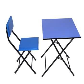 میز و صندلی تحریر تاشو و تنظیم شو یاس آبی