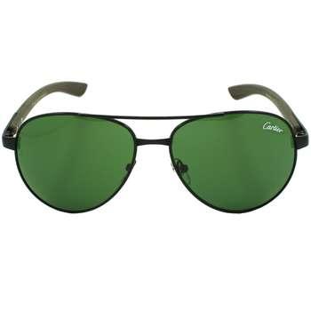 عینک آفتابی طرح کارتیه مدل T8200589 Dark Brown