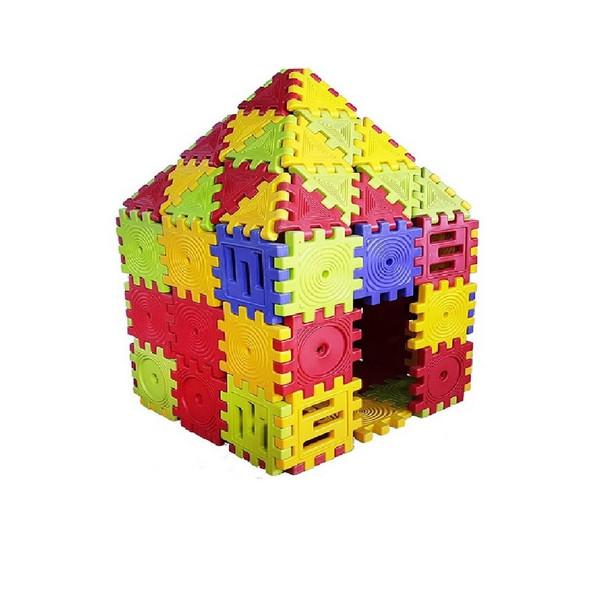پازل بازی مربعی ایرانیان تویز مدل Square Puzzle بسته 10 عددی
